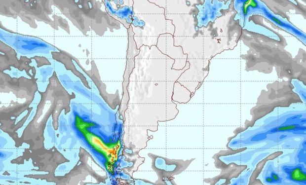 Pronóstico de lluvias para el jueves 25 de agosto.
