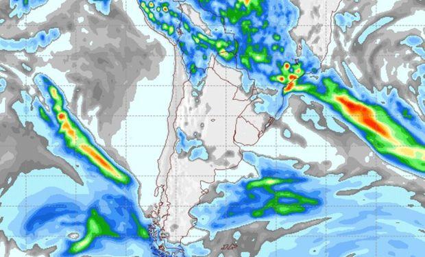 Pronóstico de lluvias para el martes 7 de marzo.