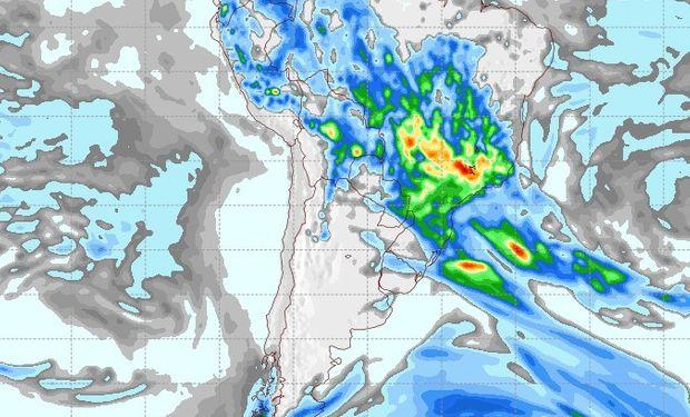 Pronóstico de lluvias para el 22 de noviembre.