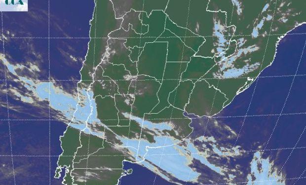 La humedad se continúa concentrándose sobre gran parte de la región pampeana