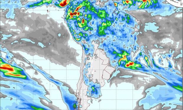Pronostico de precipitaciones válido para el 23 de enero de 2014.