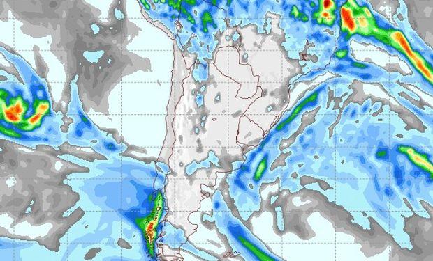 Pronóstico de precipitaciones para el 1 de mayo de 2015.