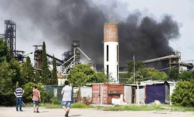 Imagen luego de la explosión de la empresa Cofco, en Timbúes.