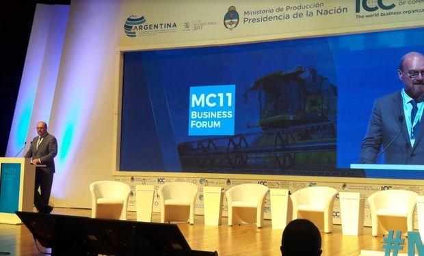 Grobocopatel durante la XI Conferencia Ministerial de la OMC.