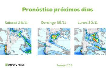 Pronóstico del tiempo: cómo será el despliegue de precipitaciones del fin de semana