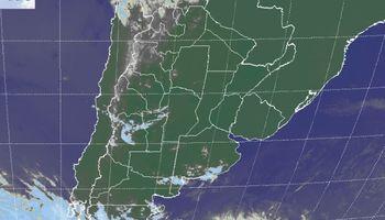 Cielos despejados sobre el sudeste de Sudamérica