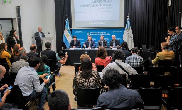 Conferencia de prensa del Ministerio de Agroindustria.