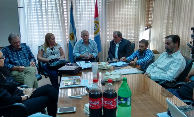 Conferencia de Prensa realizada en la ciudad de Rosario.