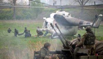 Ucrania realizó un primer ataque en Slaviansk para recuperarla
