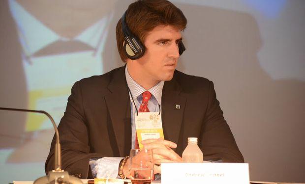 """Andrew Conner, analista del US Grains Council durante el Congreso Maizar 2014 """"El Desafío: Mejorar la Comunicación""""."""