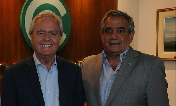Federico Pinedo, senador nacional y Carlos Iannizzotto, presidente de Coninagro