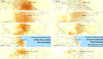 Antes y después: así desapareció la nube de contaminación sobre las principales ciudades de Argentina