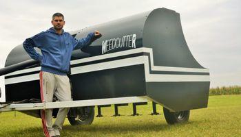 Un productor cordobés creó el Weedcutter, un innovador sistema para controlar malezas