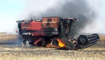 Alertan por riesgo extremo de incendio durante la cosecha en Buenos Aires y La Pampa