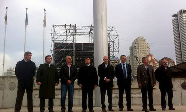 Rubén Ferrero (segundo desde la derecha) estuvo presente en la apertura de La Rural.
