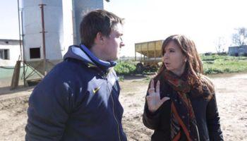 Cristina visitó un tambo en Lincoln y cosechó críticas del agro