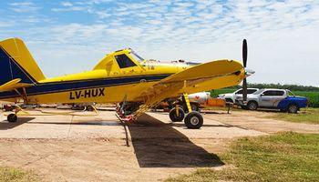 La Administración Nacional de Aviación Civil habilitó las aplicaciones aéreas
