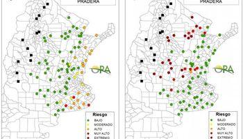 Mapa: las zonas que tienen riesgo de déficit y excesos hídricos para esta semana