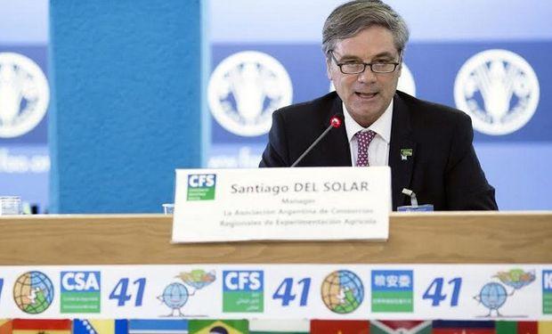 Santiago del Solar Dorrego, Directivo de AACREA, centró su disertación bajo el concepto de la innovación.