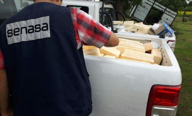 Decomiso de más de 1800 kilos de queso en Córdoba