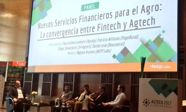 "Maximiliano Landrein, CEO de Agrofy, disertó en el panel ""Financiación para el agro""."
