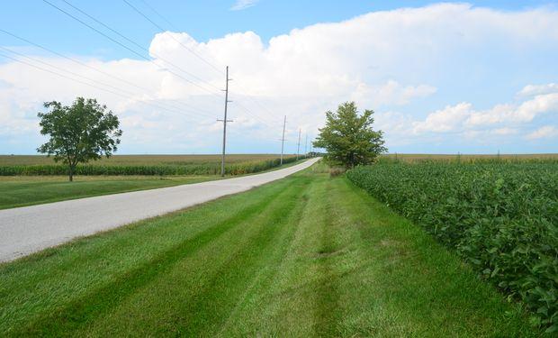 Los caminos internos en los campos de Illinois