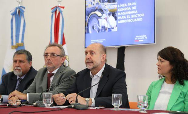 La presentación estuvo a cargo del gobernador, Omar Perotti, el ministro de Producción, Daniel Costamagna y el Nuevo Banco de Santa Fe.