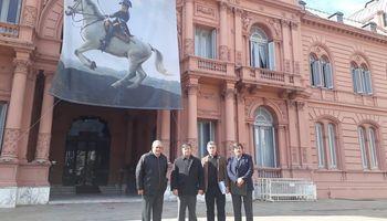 La Mesa de Enlace llegó a Casa Rosada, en donde planteará las necesidades del sector