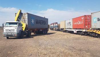 Después de 40 años, el tren retornó a una localidad cordobesa para exportar 600 toneladas de garbanzo