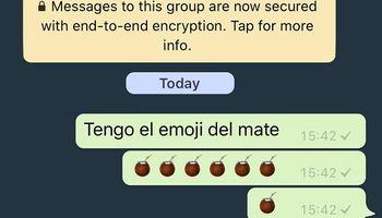 El emoji del mate ya está disponible para utilizar en Apple
