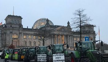 Imágenes de una Berlín paralizada por productores: cuál es el reclamo
