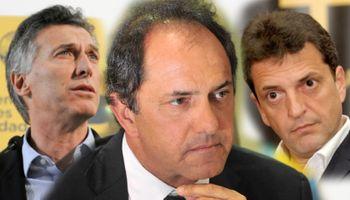 Scioli estiró la ventaja y forzó a Macri y Massa a acercar posiciones