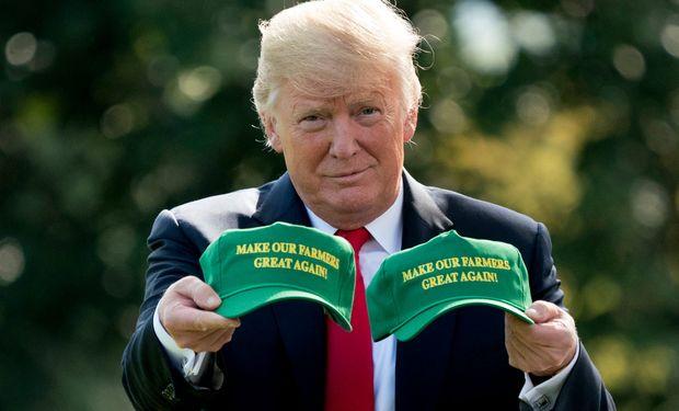 Trump en campaña: anunció una ayuda adicional de US$ 14.000 millones para productores