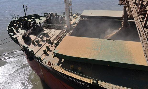 Embarques de soja registraron una media de 257.000 toneladas por día.