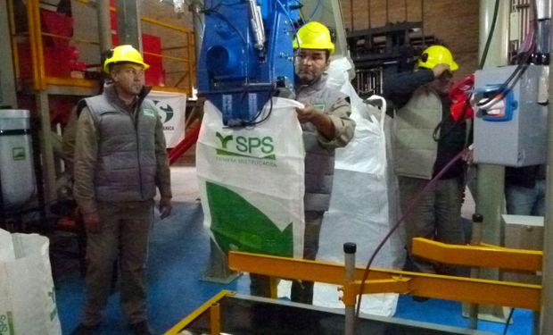 El flamante centro de tratamiento Plenus tiene capacidad para tratar hasta 18 toneladas de semillas por hora.
