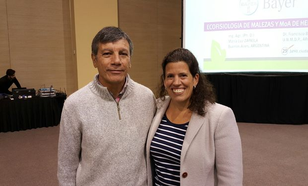 Dres. Francisco Bedmar (UNMdP) y María Luz Zapiola (UCA).