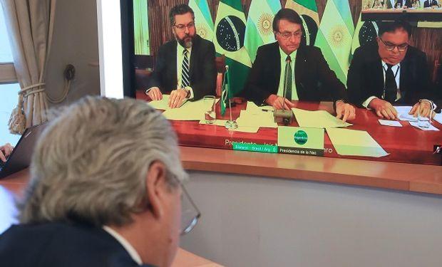 Encuentro entre Bolsonaro y Fernández: ratificaron el Mercosur y hablaron de desburocratización