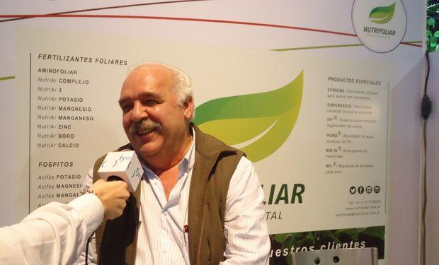 Ing. Agr. Enrique Ballesteros, Director de Nutrifoliar en exclusiva con fyo.