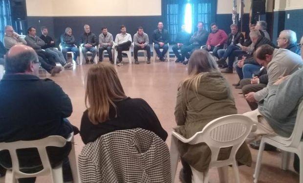 Encuentro en Oncativo de las bases de Federación Agraria.