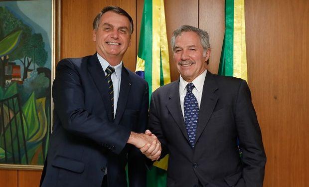 Jair Bolsonaro junto a Felipe Solá.