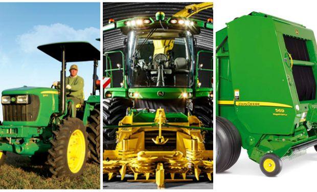 Los tractores 5E y 6J, la picadora de forraje y la rotoenfardadora de John Deere, hablan por sí solas.