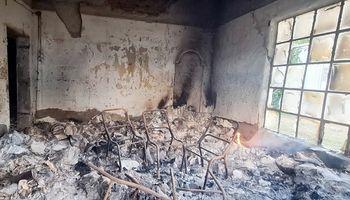 Se incendió una escuela agrotécnica y piden colaboración para la reconstrucción