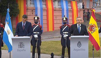 """Fernández con el presidente de España: """"Tenemos vocación de encontrar un acuerdo Mercosur-UE"""""""