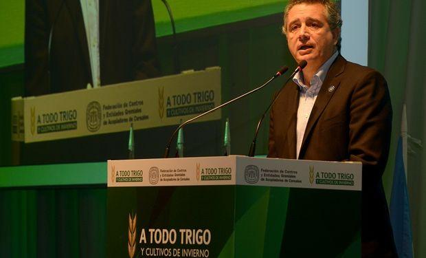 Luis Miguel Etchevehere en la apertura de la jornada A Todo Trigo 2018.
