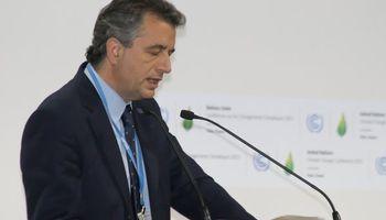 Etchevehere disertó frente al plenario de la COP 21