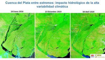 Imágenes: una bajante extraordinaria del río Paraná que se profundizará en abril