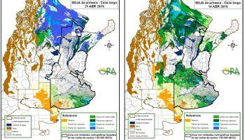 El mapa de los excesos hídricos y las zonas que se encuentran bajo riesgo