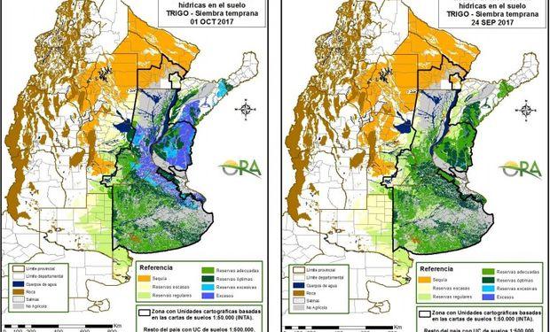 Reservas de humedad al 1 de octubre y 24 de septiembre respectivamente.