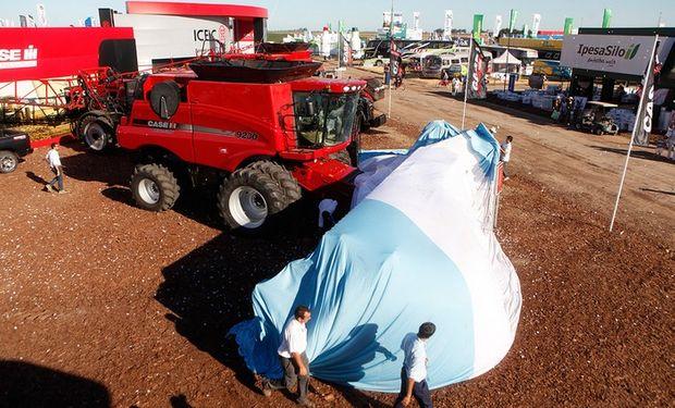 La presentación de la cosechadora se realizó en el marco de la presentación formal del grupo CNH Industrial.