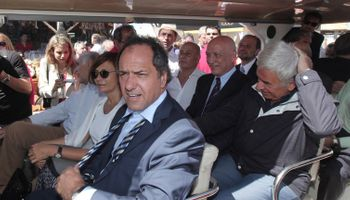 Daniel Scioli se diferenció del gobierno y se acercó al campo en Expoagro